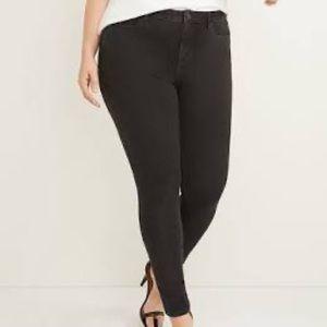 Mid rise super stretch skinny jeans